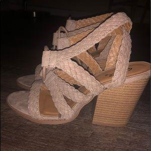 NWOT Taupe Heels